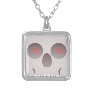 Evil Skull Silver Plated Necklace