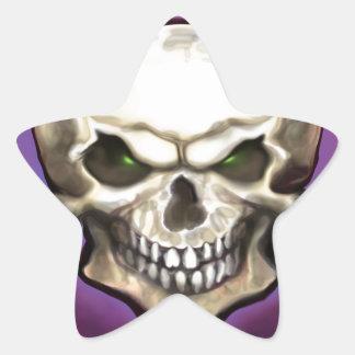 Evil Skull Star Sticker