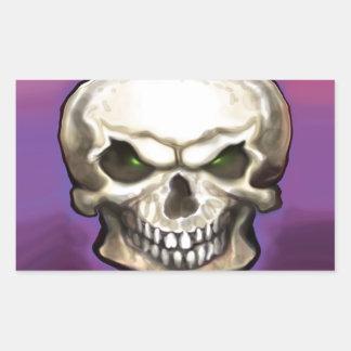 Evil Skull Rectangular Sticker