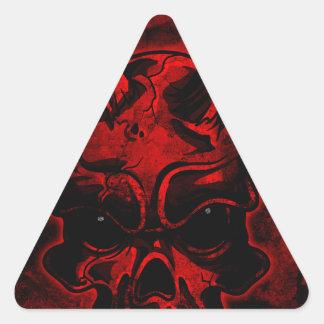Evil Skull Triangle Sticker
