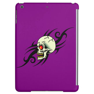 Evil Skull Tribal Tattoo Purple Cover For iPad Air