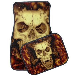 Evil Skull With Fangs Printed Car Mat