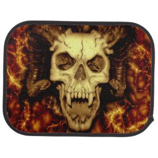 Evil Skull With Fangs Printed Floor Mat