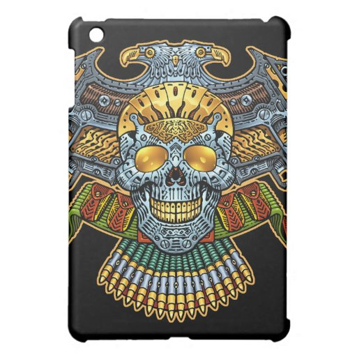 Evil Skull with Guns and Bullets by Al Rio iPad Mini Covers