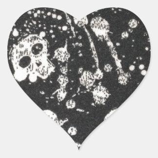 Evil -skulls and guitars in black stickers