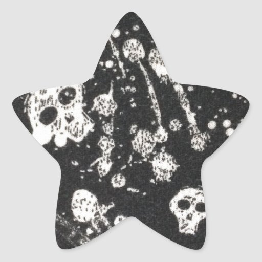 Evil -skulls and guitars in black star stickers