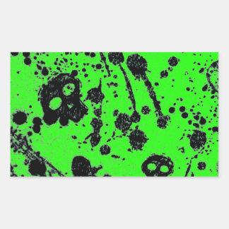Evil - skulls and guitars in green rectangular sticker