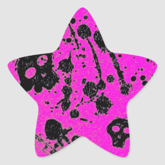 Evil -skulls and guitars in pink stickers