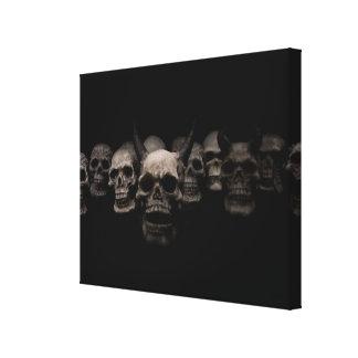 Evil Skulls Canvas Print