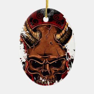 Evil Skulls Ceramic Oval Decoration