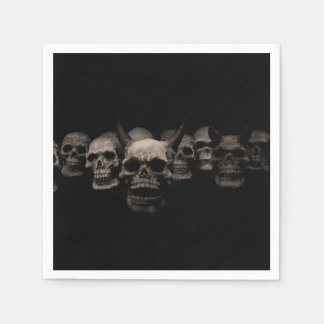 Evil Skulls Disposable Serviette