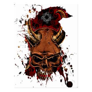 Evil Skulls Postcard