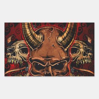 Evil Skulls Rectangle Sticker
