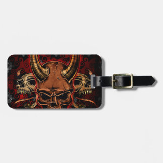 Evil Skulls Tags For Bags