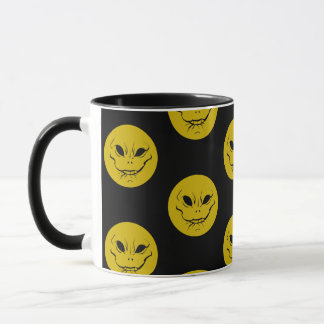 Evil Smiely Anticipation Face Cushion Mug