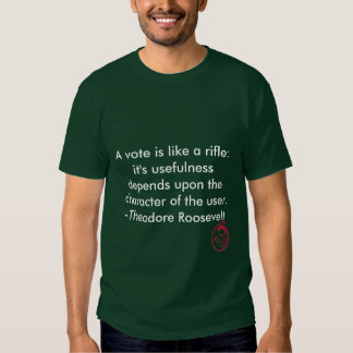 Evil Smile, A vote is like a rifle: it's useful... T Shirt