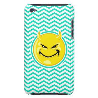 Evil Smile Aqua Green Chevron Barely There iPod Cover