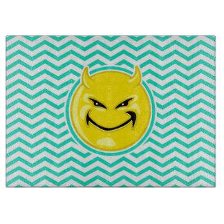Evil Smile Aqua Green Chevron