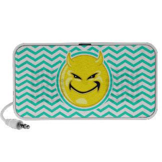 Evil Smile Aqua Green Chevron iPhone Speaker