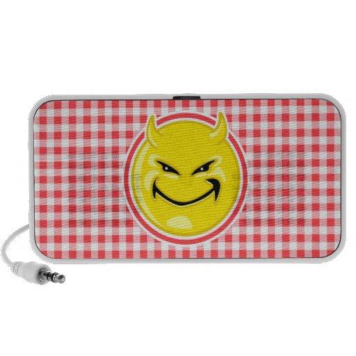 Evil Smile; Red and White Gingham Speaker System