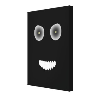 Evil Smile Wrapped Canvas Stretched Canvas Print