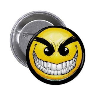 Evil Smiley 6 Cm Round Badge