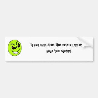 Evil smiley bumper sticker. bumper sticker