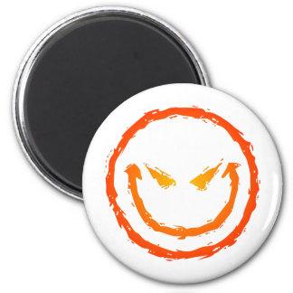 Evil Smiley Face 6 Cm Round Magnet