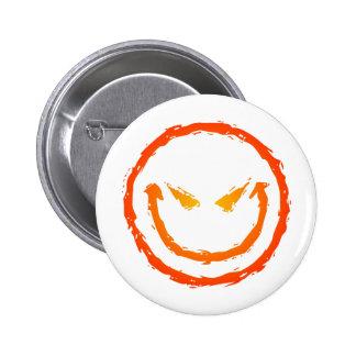 Evil Smiley Face Pin