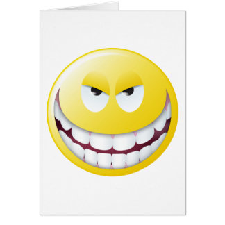 Evil Smiley Face Cards