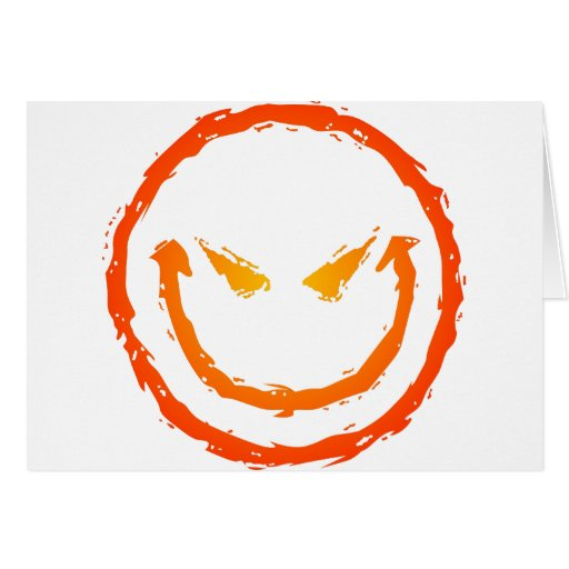 Evil Smiley Face Greeting Card