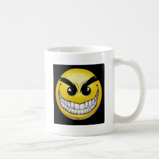 Evil smiley face coffee mugs