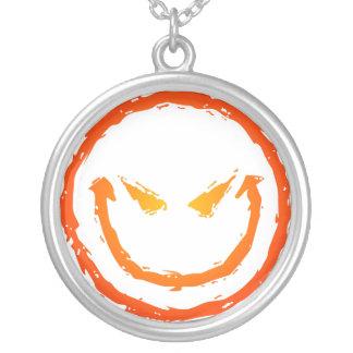 Evil Smiley Face Necklace