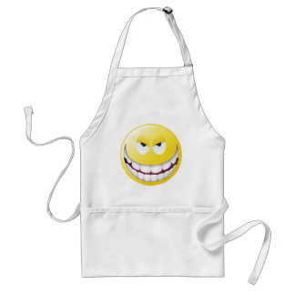 Evil Smiley Face Standard Apron