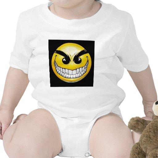 Evil smiley face tee shirt
