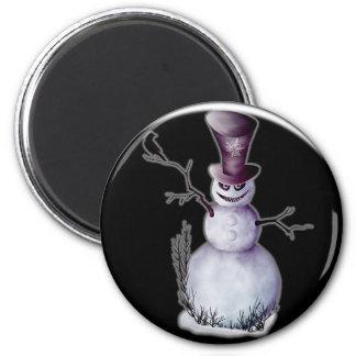 evil snowman magnet