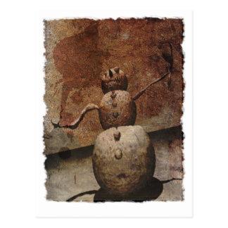 Evil Snowman Postcard