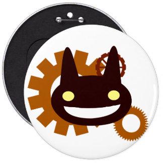 Evil Steampunk 6 Cm Round Badge