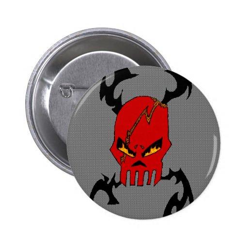 Evil Tribal Skull- button