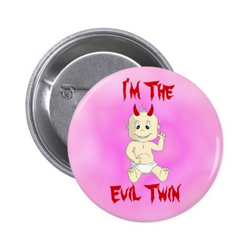 Evil Twin Button (pink)