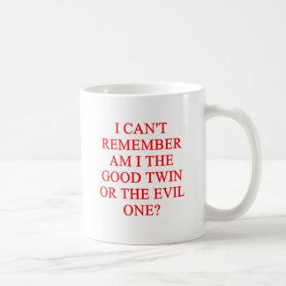 evil twin joke coffee mugs