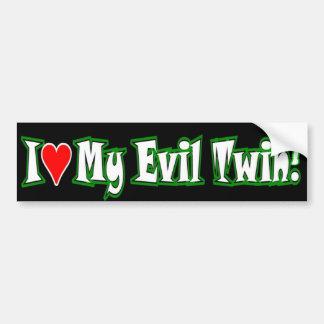 Evil twin love bumper sticker
