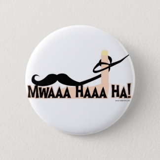 Evil Twirling Moustache 6 Cm Round Badge