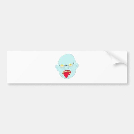 Evil Vampire Head Art Bumper Stickers