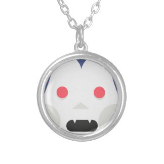 Evil Vampire Silver Plated Necklace