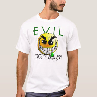 Evil vegetarian smiley tee