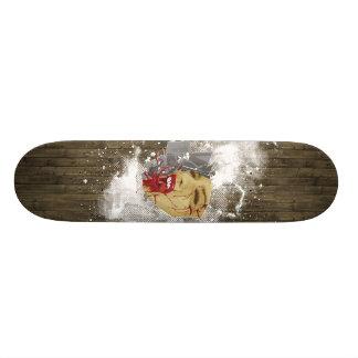 evil wood skate board