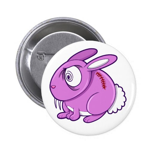 Evil Zombie Easter Bunny Rabbit Overload Button