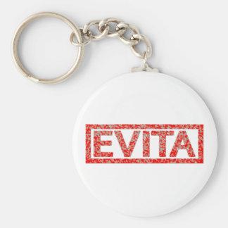 Evita Stamp Basic Round Button Key Ring
