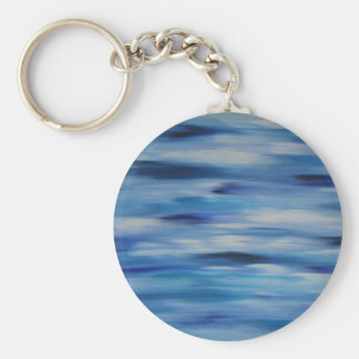 Evitavic paintings collection Blue Sky Basic Round Button Key Ring
